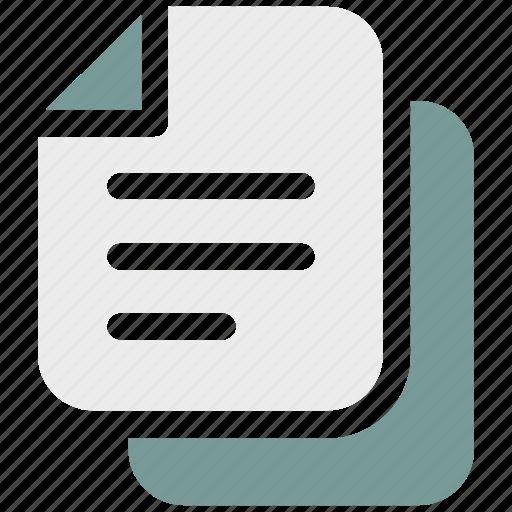 copy, ⦁ documents, ⦁ duplicate, ⦁ filesicon icon