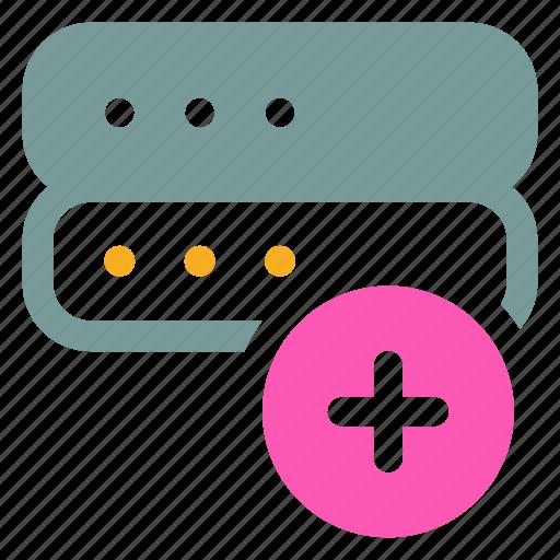 add, ⦁ new, ⦁ plus, ⦁ servericon icon