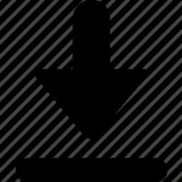 arrow, arrow bottom, down, download icon