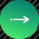 arrow, direction, navigation, nest step, next, right, step