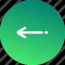 arrow, arrows, back, direction, gps, left, navigation icon