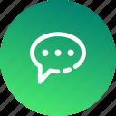 bubble, communication, conversation, interaction, mail, message, speech icon
