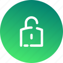 lock, padlock, password, protect, protection, security, unlock icon