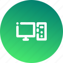 communication, computer, hardware, interaction, message, monitor, technology icon