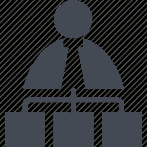 business, finance, marketing, mlm, network icon