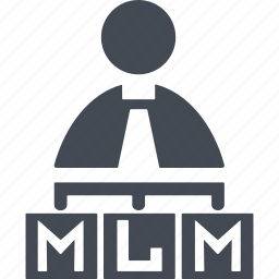 business, finance, marketing, mlm, structure icon