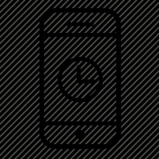 clock, iphone, mobile, mobile clock, phone, smartphone, telephone icon