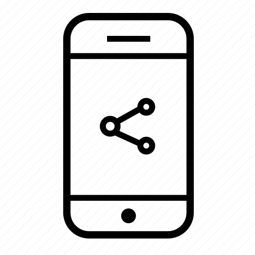 cell, mobile, mobile share, mobile sharing, phone, share, share mobile icon