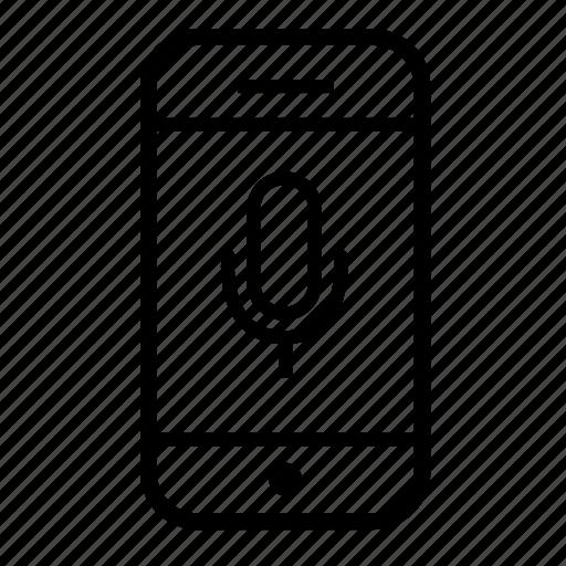 mic, microphone, mobile, mobile microphone, mobile phone, phone icon