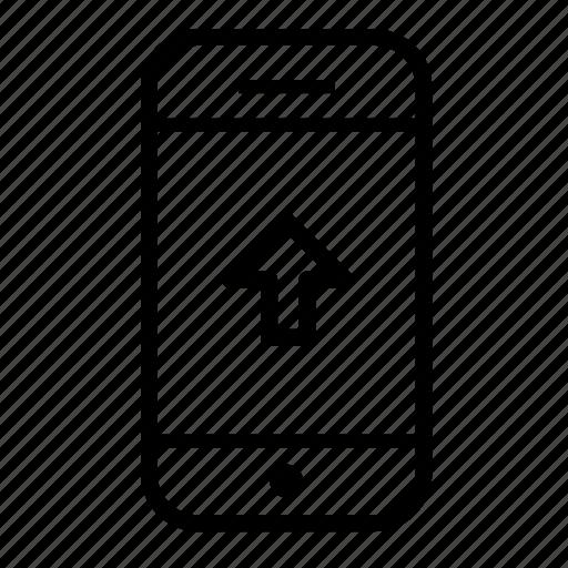 mobile phone, mobile phone upload, mobile upload, up, upload icon