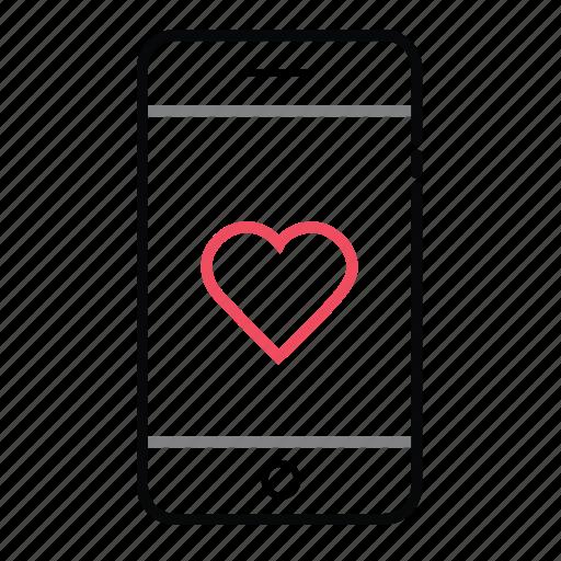 favorite, like, love, mobile, mobile phone, mobiles, phone icon