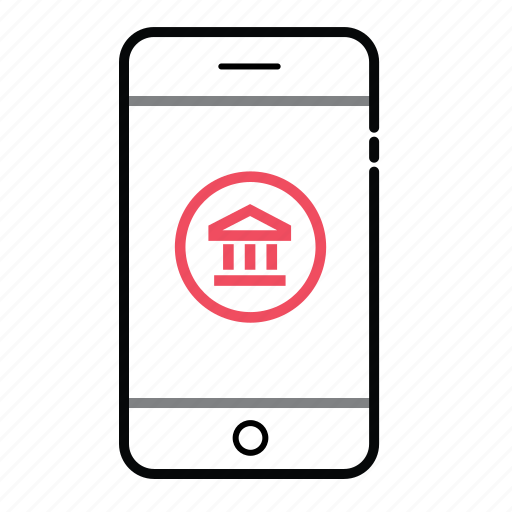 mobile, mobile bank, money, online bank, phone, smart phone icon
