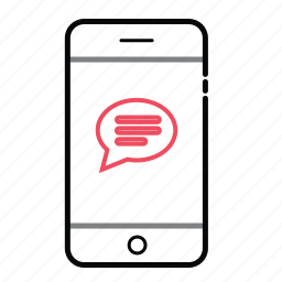 chat, chating, mobile, mobile chat buble, mobile conversation, phone, smart phone icon