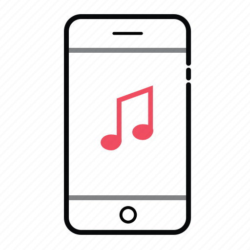 mobile, mobile music, music, phone music, smart phone icon