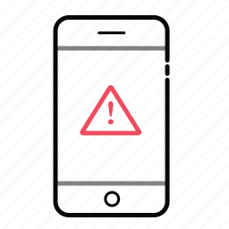 mobile, mobile alert, phone alert icon