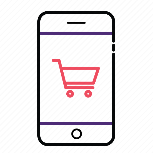 cell phone, mobile, mobile phone, mobile-shopping, online shopping icon