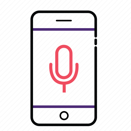 cell, microphone, mobile, phone icon