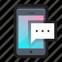 chat, comment, conversation, message, mobile, phone, talk