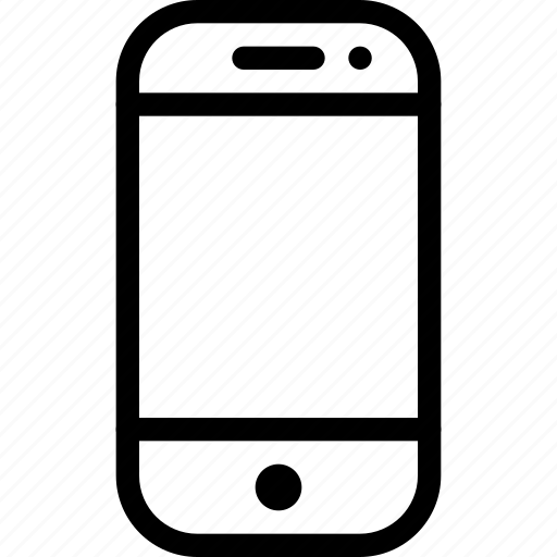 communication, device, line-icon, mobile, phone icon