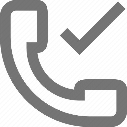 accept, call, check, communication, contact, material, phone icon