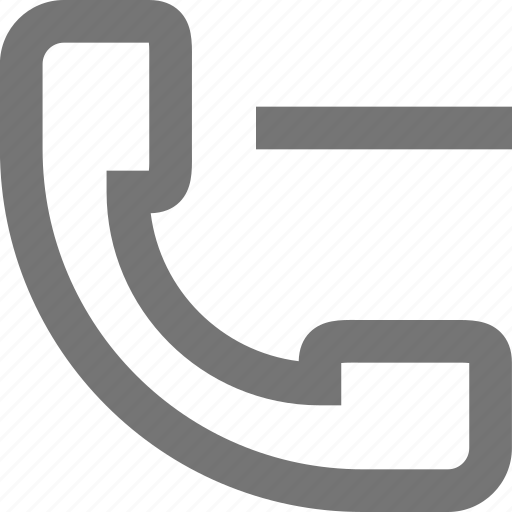 call, communication, contact, delete, material, minus, phone icon