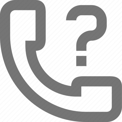 call, communication, contact, help, material, phone, question icon
