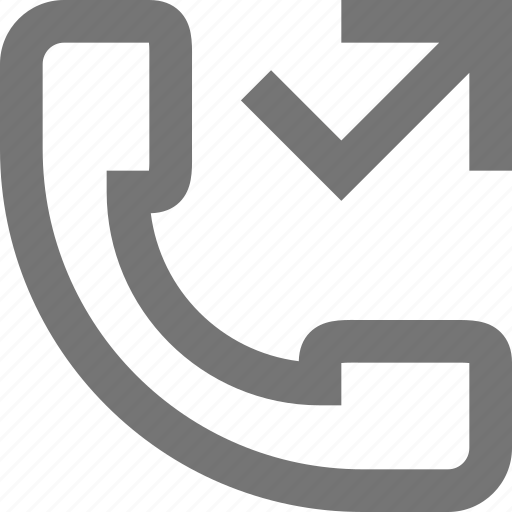 call, communication, contact, material, missed, outgoing, phone icon