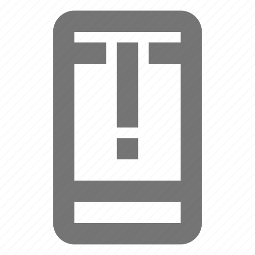 alert, call, communication, important, material, mobile, warning icon
