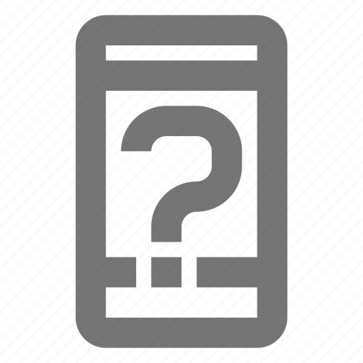 call, communication, contact, help, material, mobile, question icon