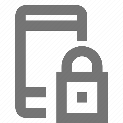 call, communication, contact, lock, material, mobile, phone icon