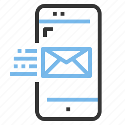 app, contact, email, mobile, smartphone icon
