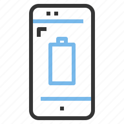app, battery, contact, empty, mobile, smartphone icon