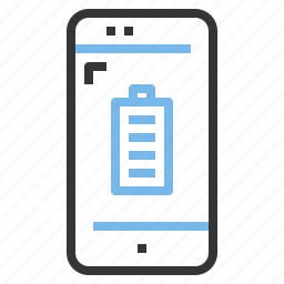 app, battery, contact, full, mobile, smartphone icon