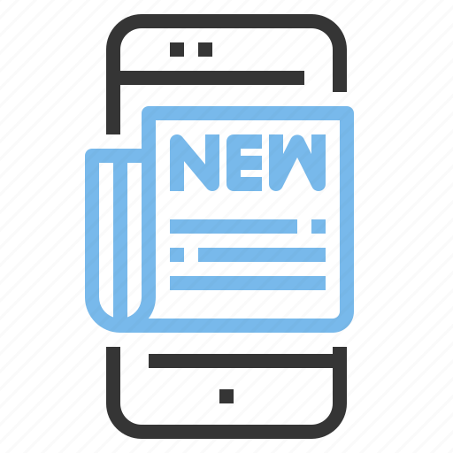 app, contact, infomation, mobile, news, smartphone icon
