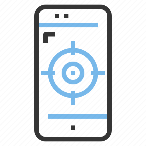 app, contact, mobile, smartphone, target icon