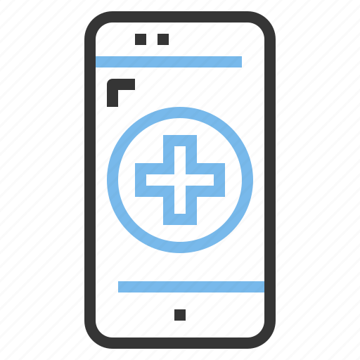 app, contact, hospital, mobile, smartphone, treatment icon