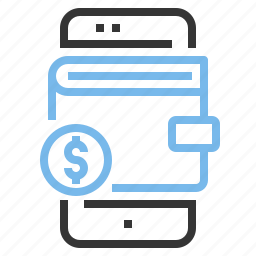 app, contact, mobile, smartphone, wallet icon