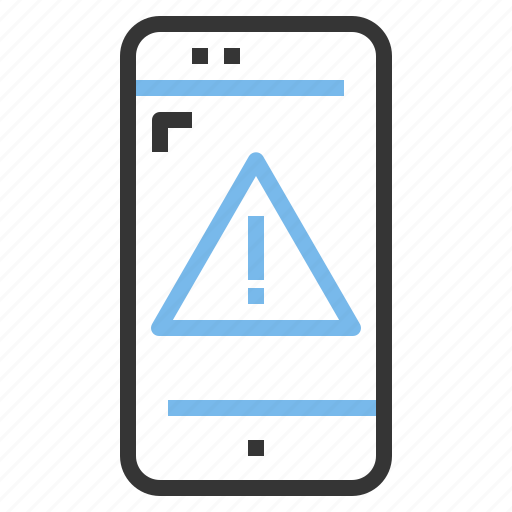 app, contact, mobile, smartphone, warning icon