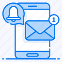 electronic mail, message notification, mobile email, mobile inbox, new message, unread message