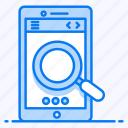 mobile search, online search, search bar, search box, smartphone search