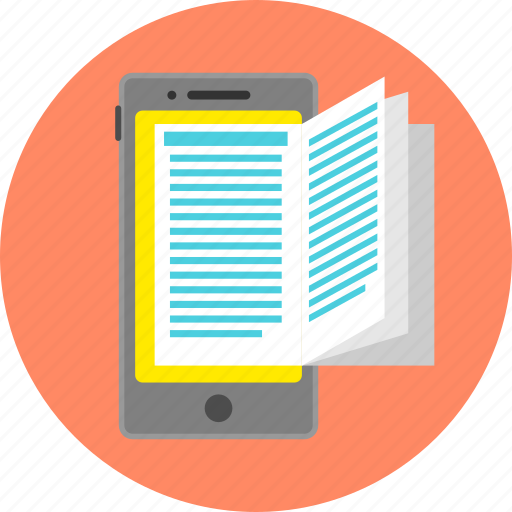 book, ebook, knowledge, learning, mobile app, reading, study icon