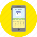 appointment, calendar, date, mobile app, month, plan, schedule icon