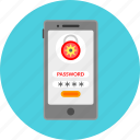 lock, mobile app, password, private, protection, safety, security icon