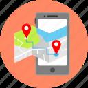 map, arrow, gps, location, mobile app, navigation, pointer