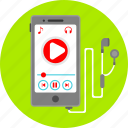 audio, mobile app, multimedia, music, play, smartphone, sound icon