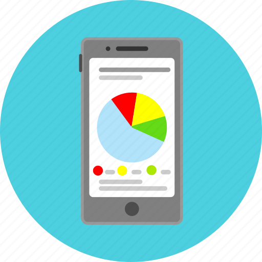 analysis, chart pie, diagram, graph, mobile app, report, statistics icon