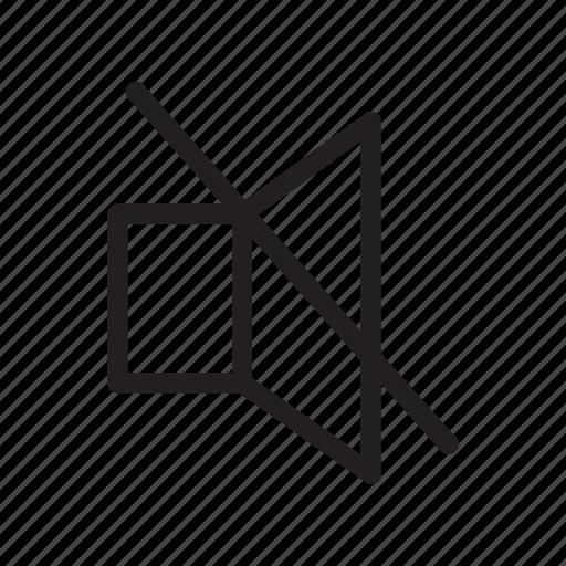 application, apps, design, mobile, mute, volume icon