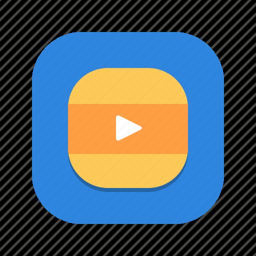 media, mobile, movie, player, video icon