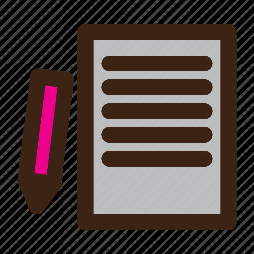 document, paper, school icon