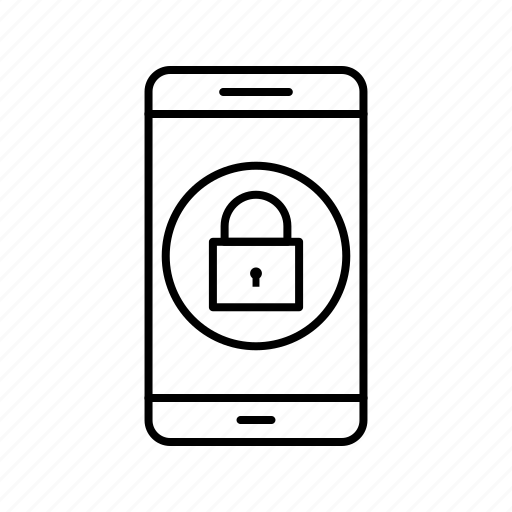 app, application, lock, mobile, phone icon